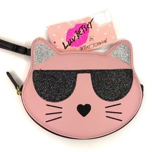 Luv Betsey Cool Kitty Wristlet Coin Purse